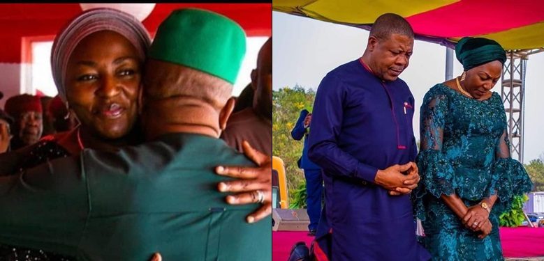 ADORABLE! Emeka Ihedioha's wife, Ebere tells him she got his back after Supreme Court judgement