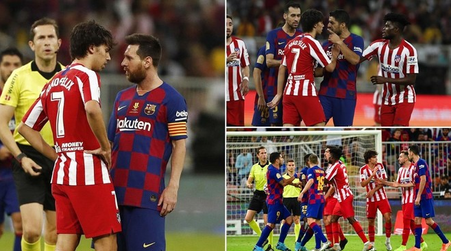 Messi gets in a tussle with Athletico star as Barca lose in Spanish Super cup