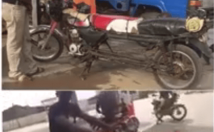 VIDEO: Panelbeater goes creative, makes his motorcycle longer to carry more passengers