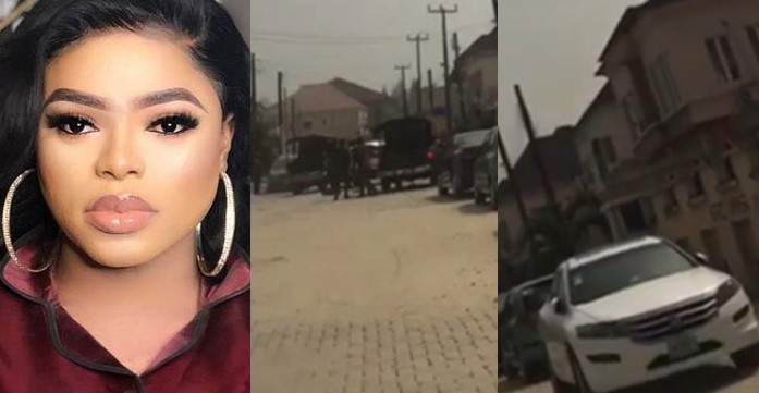 Police reportedly arrest Bobrisky and seize his cars (Video)