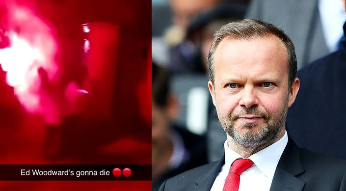 Fans launch fireworks and smoke bombs at Manchester United chief, Ed Woodward's £2m mansion (photos)