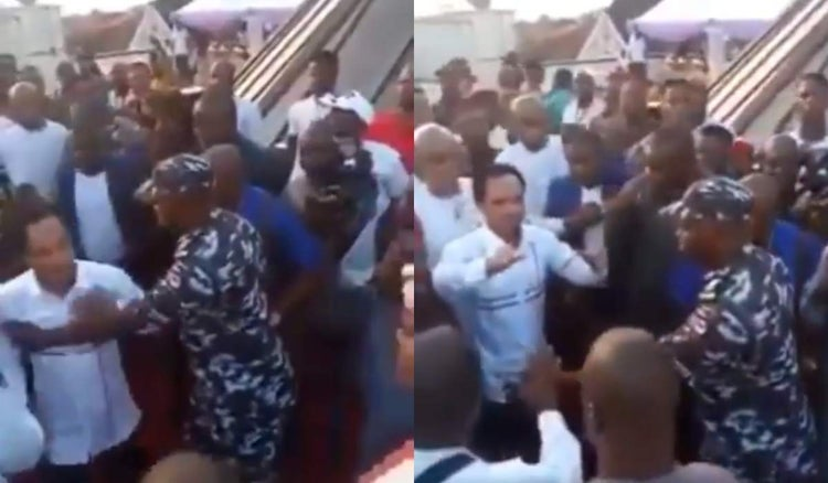 Policeman prevents Prophet Odumeje from meeting Governor Ganduje at Anambra (VIDEO)