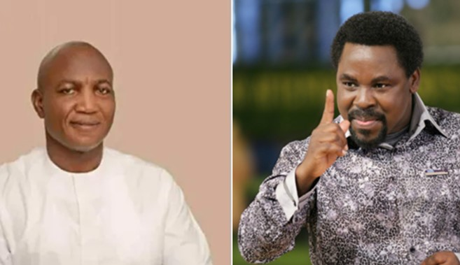 Nigerians dig up clip of Prophet T.B Joshua telling David Lyon not to give testimony as Governor-elect till after his inauguration (Video)