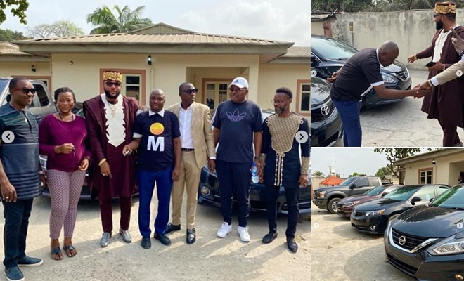E-Money celebrates his birthday by buying cars for his staffs (Photos)
