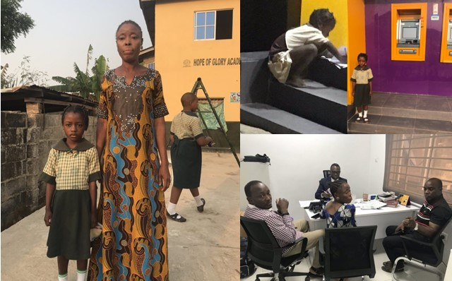 Little girl who used ATM light to do her assignment receives scholarship, gets donations from Nigerians (Photos)
