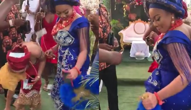 #BBNaija: First photos and video from Nina's introduction ceremony