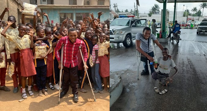 Physically challenged man embarks on charitable mission to help school children, less privileged and physically challenged persons