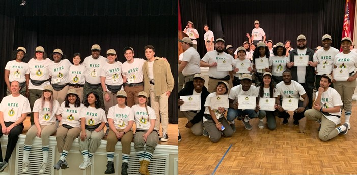 Nigerian students in University of Arkansas re-enact the NYSC experience for foreign students to share in the experience