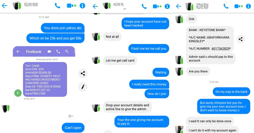 Man shares screenshots of chat he had with a scammer who tried to scam him after hacking his friend's Facebook account