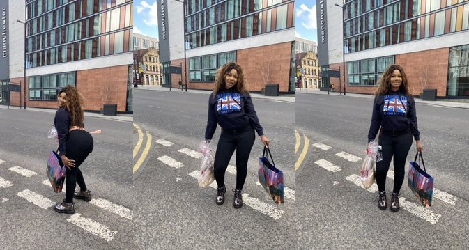 Even Osuofia didn't behave like this in London – Fan blasts Tacha for exposing herself to COVID-19 in UK