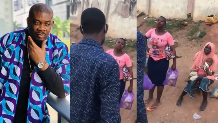 Young man who benefited from Don Jazzy's giveaway uses part of the money to help less privileged people in his community (Video)