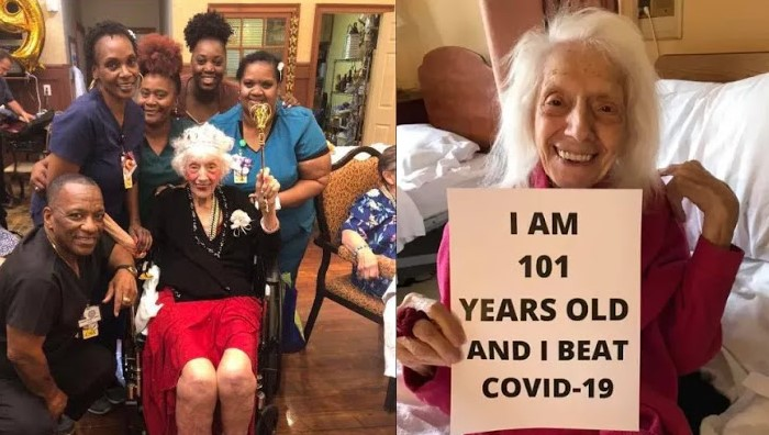 Amazing! 101-year-old woman who survived cancer and Spanish flu beats coronavirus