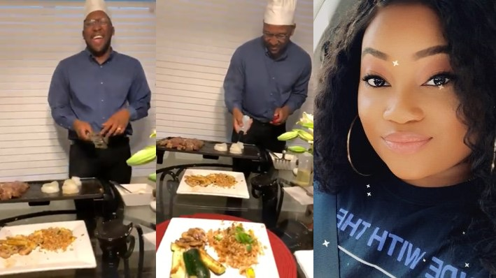 Wife happily shares video of her romantic husband preparing intercontinental dishes to celebrate their anniversary as they couldn't go out
