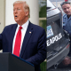 Trump and Police officer