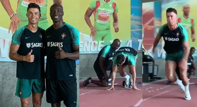 How athlete, Francis Obikwelu represented Portugal and became Cristiano Ronaldo's personal trainer after being neglected by Nigeria (Videos)