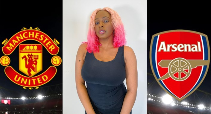 DJ Cuppy trolls Arsenal fans after Man United welcomed her