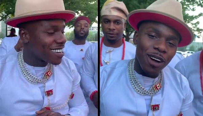 Video of American rapper, DaBaby and his daughter listening to Igbo gospel music