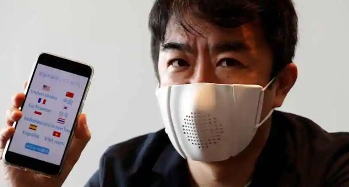 Japanese firm invents face mask that connects to phones