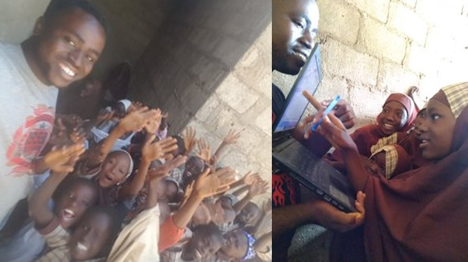 Photos: Inspiring story of how a man has been single-handedly teaching 400 children under a tree in Kaduna