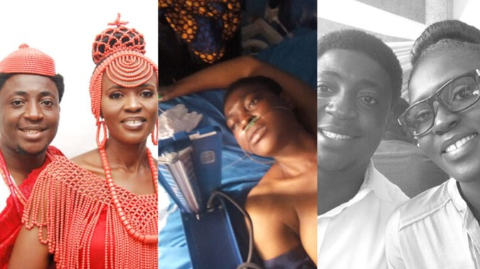 Nigerian man mourns on social media after losing his beautiful wife to fibroid