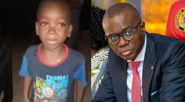 """Lagos State Governor, Jide Sanwo-Olu wants to meet little boy who asked his mom to """"Calm Down"""" in viral video"""
