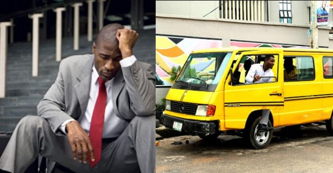 Man breaks down in tears after discovering the tough interview he wore suit to, is for a bus driving job