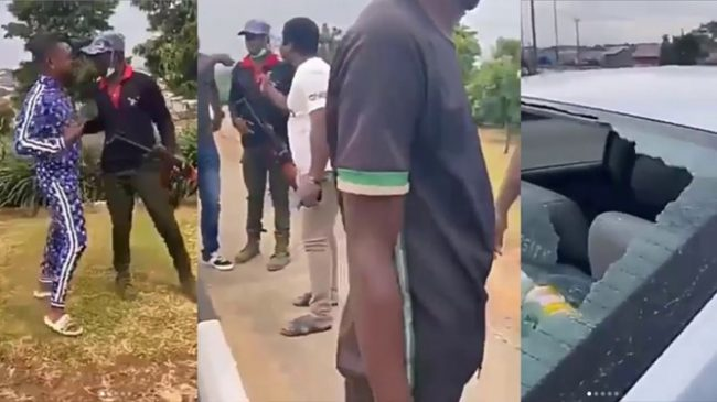 Policeman allegedly shoots car with children occupants over refusal to give bribe (Video)