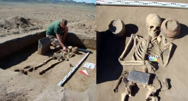 Archaeologists discover 2100-year-old skeleton buried with an 'iPhone' (Photos)