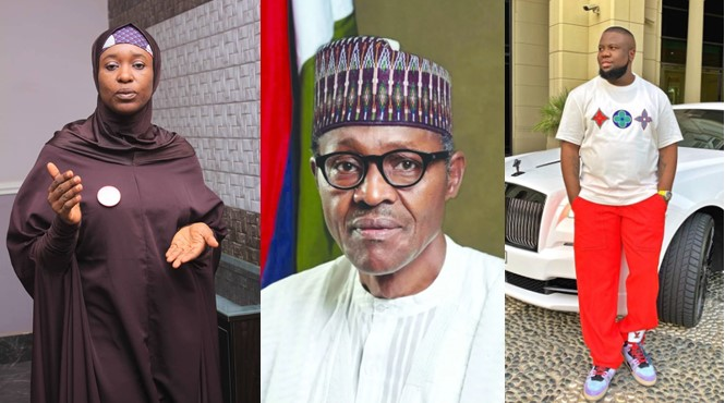 Aisha Yesufu alleges that Buhari and Hushpuppi are in the same business