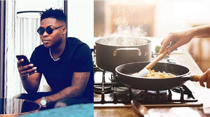My girlfriend stabbed my cook for cooking for me'' - Reekado Banks reveals