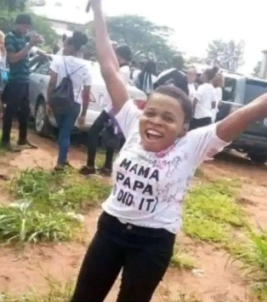 Physically-disabled orphan celebrates as she graduates