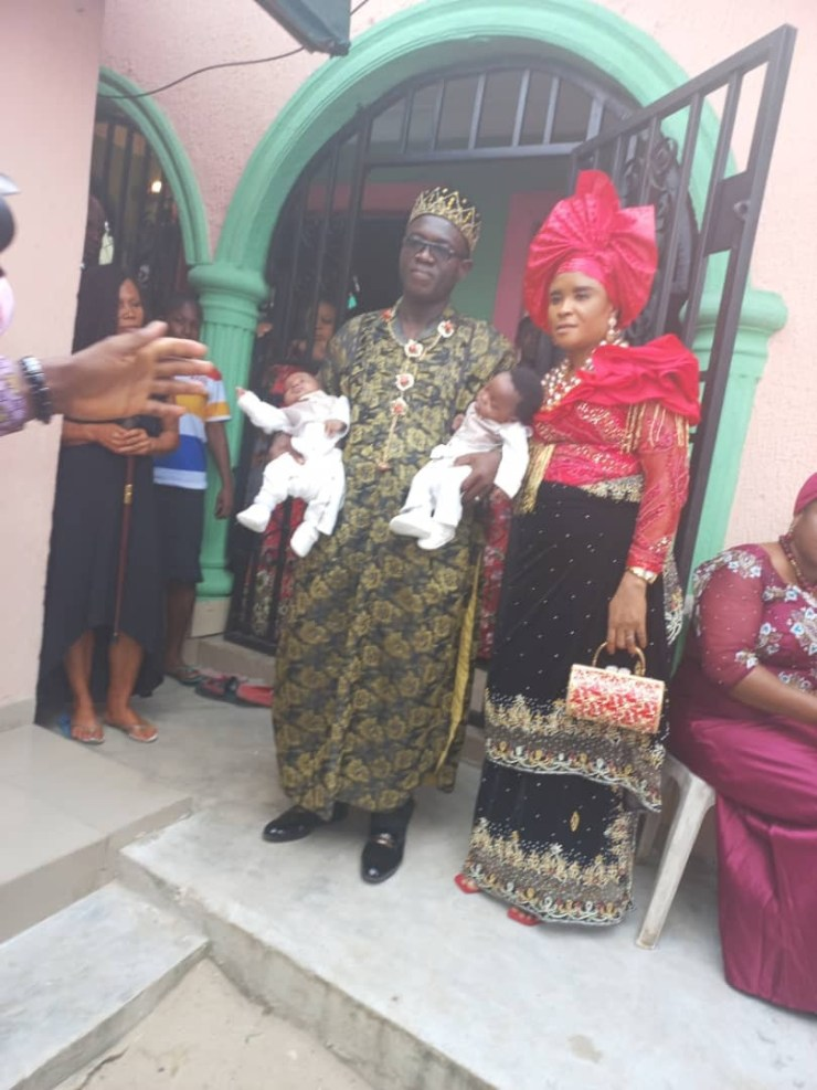 Nigerian couple welcome a set of twins after being married for 16 years