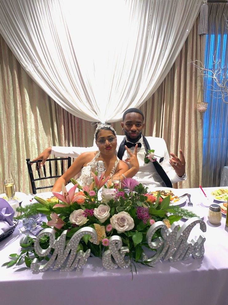 Stop playing hard to get, it's unnecessary – Lady advises as she ties the knot with man she met online (Photos/Screenshot)
