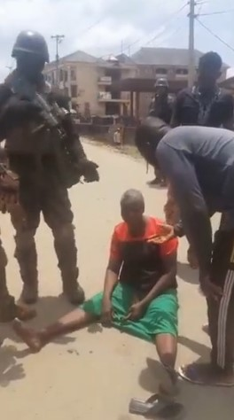 Elderly Woman Pushes back at security operatives