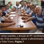 PV decide apoiar Túlio Vieira