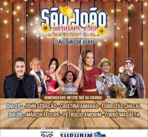 Prefeitura de Surubim anuncia atrações do São João 2018