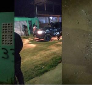 """Residência é alvo de tiros de fuzil em Surubim; suspeitos picharam muro do imóvel com a inscrição """"PCC 33"""""""
