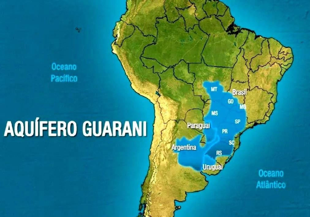 Reserva de água no Aquífero Guarani - clique para ampliar