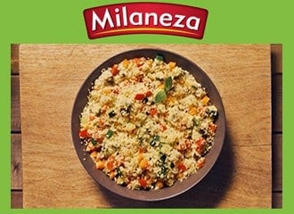 Couscous Milaneza com legumes grelhados