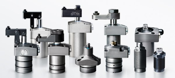 Pascal Work Holding products, Swing clamps, Link Clamps, Work supports, Expanding Clamps, Precision, Hydraulic Cylinders