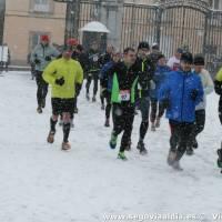 Correr sobre la nieve, correr con nieve