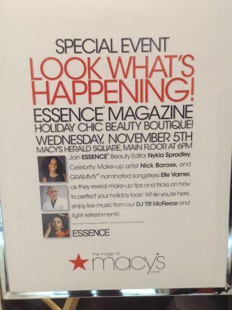 Essence Magazine and Macys Holiday Kick Off - 1