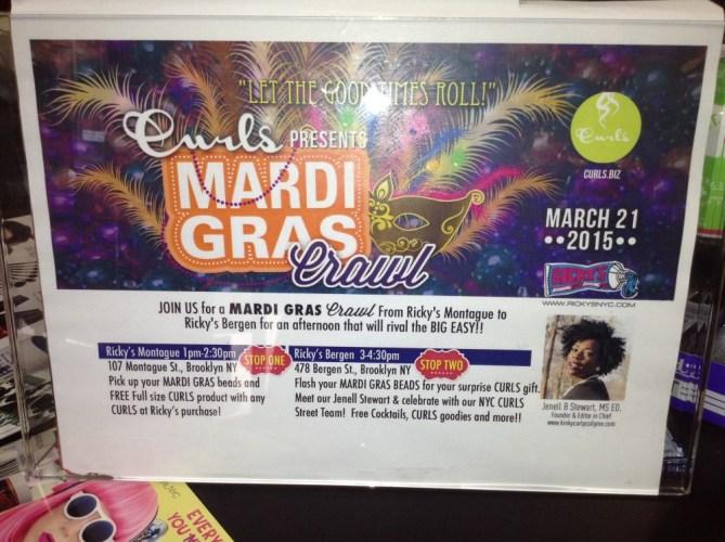 Curls Presents Mardi Gras Crawl at Ricky's