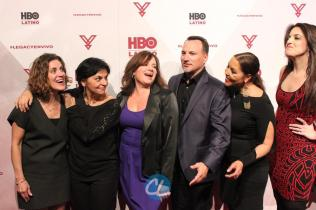 HBO Latino film programming VP Leslie Cohen, HBO Latino film programming senior VP Doris Casap, HBO Latino director of business affairs Rebecca Vazquez, Ruben Leyva of Sony Music U.S. Latin, HBO Latino multicultural marketing SVP Lucinda Martinez, and Sony Entertainment Business Development Manager Melissa Exposito