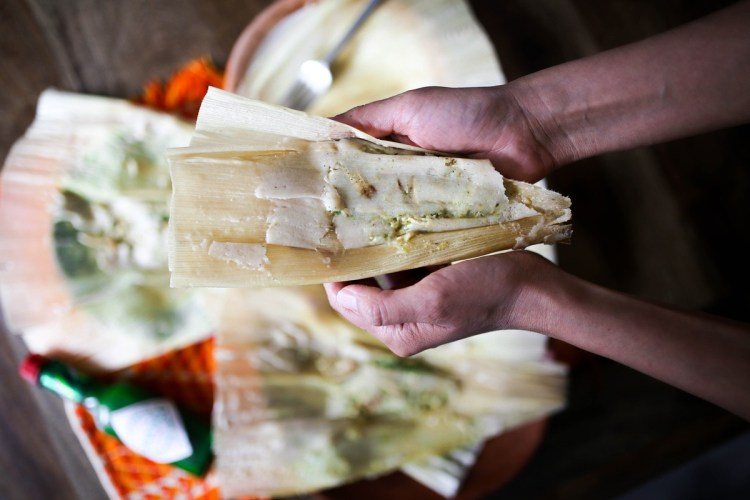 Tomatillo and Jalapeño Turkey Tamales Created by Bricia Lopez of Guelaguetza