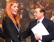 Brambilla e Berlusconi (Fotogramma)