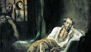 Eugène Delacroix, «Tasso nell'ospedale di Sant'Anna a Ferrara» (1839, particolare)