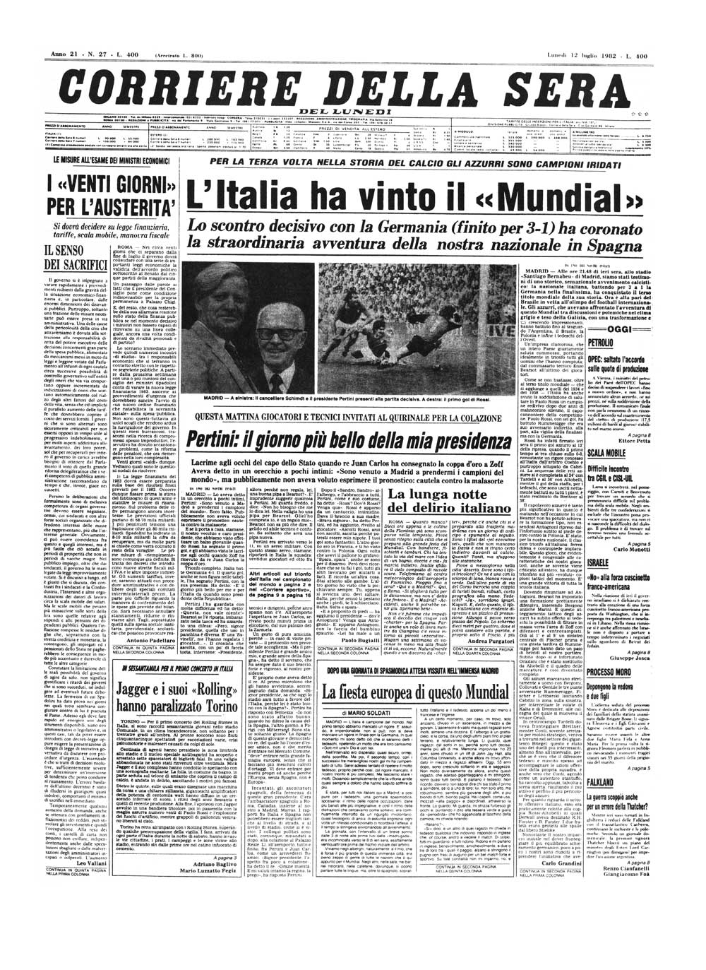Corriere Della Sera Il Corriere Della Sera Del 12 Luglio