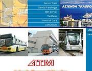 Una veduta dell'home page del sito Internet dell'Atm di Messina