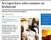 Il pezzo che il Sunday Times dedica a Berlusconi